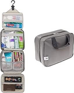 Ballage Hanging Travel Toiletry Bag With Customizable Storage   Store Toiletries, Makeup, Cosmetics, Personal Items   Waterproof Fabric, Hang Hook   Makeup Bag   Cosmetic Bag