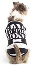 Bad to The Bone Convict Small Dog Halloween Costume - Funny Pet T-Shirts Clothes