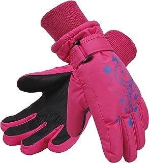 simplikids 女孩防水 Thinsulate 衬里冬季滑雪和单板手套