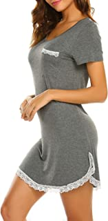 Camisón de manga corta para mujer (tallas S-XXL)
