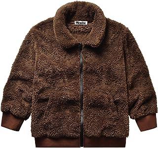 Mirawise Girls Fleece Jackets Full Zip Fur Jacket Winter Coat Kid Clothes