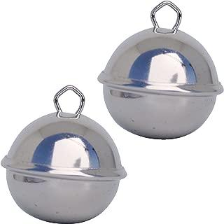 BronaGrand Petites Clochettes De No/ël 2.54cm 50pcs Clochette Metal Clochettes Argent pour No/ël D/écoration Artisanat DIY