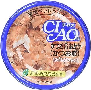 チャオ (CIAO) キャットフード かつお&おかか(かつお節) 85g×6缶 (まとめ買い)