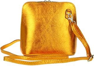 Girly Handbags Cuero de la piel de serpiente genuina Cruz cuerpo rígido
