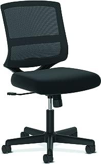 HON ValuTask Mid-Back Mesh Task Chair, Armless Black Mesh Computer Chair