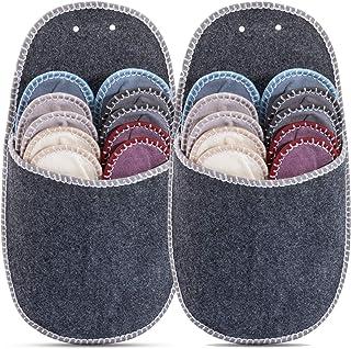 Onvaya Lot de 2 paires de chaussons en feutre Gris 11 pièces
