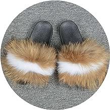 Kingwhisht Fur Slipper Fur Style Slides Sliders Soft Fur