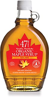 47 North Canadian Single Source Organic Maple Syrup, Grade A, Golden, 12x250g LIMITED EDITION