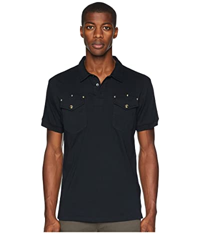Versace Jeans Couture Studded Pocket Polo (Black) Men