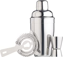 Bar Craft Deluxe - Cocktail Gift Set - 3 Piece Including Cocktail Shaker