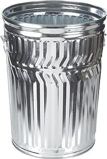 Witt Industries WCD32C Galvanized Steel 32-Gallon Light Duty Trash Can, Round, 21-1/4