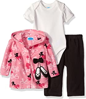 BON BEBE Baby Girls' 3 Piece Microfleece Jacket Set