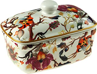 Leonardo Collection Campana Arriba Porcelana Fina Brillante Floral Butter Plato en Caja de Regalo