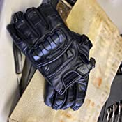 SCORPION KLAW II BLACK LEATHER MOTORCYCLE RIDING GLOVES SHORT CUFF PRE CURVED 2X