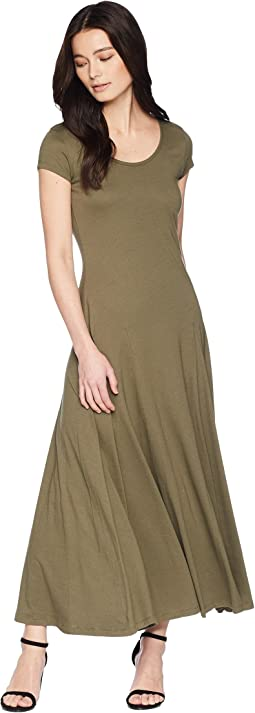 Petite Jersey Scoop Neck Maxi Dress