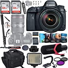 $2199 » Canon EOS 6D Mark II DSLR Camera w/ 24-105mm F/4L is II USM Lens Bundle Includes 2X 128GB Memory, LED Light, Case, Pro Microphone, U-Grip, Time Remote - LCD, Photo/Video Software Package & More