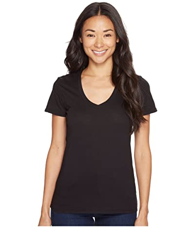 Mod-o-doc Supreme Jersey Fitted S/S V-Neck (Black) Women