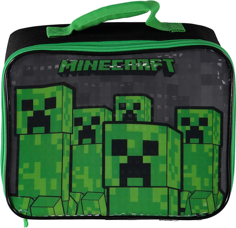 Minecraft Creeper Soft Rectangular Lunch Box (Black/Green)