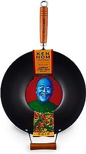 "Ken Hom Classic Stir Fry Wok, 14"", Black"