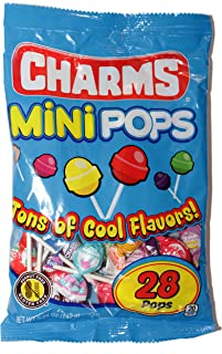Charms (1) bag Mini Pops Candy Lollipops - Peanut & Gluten Free Individually Wrapped - 28 pieces per bag 5.04 oz