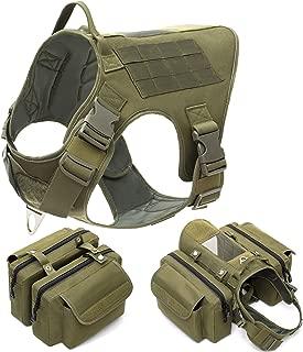 SNAKTOPIA Tactical Dog Harness, Working Dog Vest,Dog Pack Attachment Rucksack Saddle Bag for Medium & Large Dog