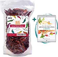 Best Dried Arbol Chiles Peppers 4 Oz, Great For Mexican Recipes, Salsas, Mole, Meats, Chilis, Stews, Soups, And Tamales - Medium to High Heat, Packaged In Resealable Bag By Ole Rico Reviews