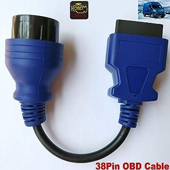 LoongGate 16 Pin Passer 1 /à 3 OBD2 Extension Splitter C/âble 0.5 M/ètres M/âle /à Femelle OBDII Extension Connecteur Adaptateur