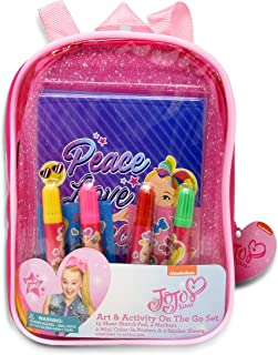 JoJo Siwa Coloring and Activity Book Set, Includes Markers, Stickers, Mess Free Crafts Color Kit in Mini Travel Backpack, ...