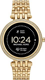 Michael Kors Women's Gen 5E 42mm Stainless Steel Touchscreen Smartwatch with Fitness Tracker, Heart Rate, Contactless Payments, and Smartphone Notifications.