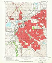 YellowMaps Lincoln NE topo map, 1:24000 Scale, 7.5 X 7.5 Minute, Historical, 1964, Updated 1966, 26.7 x 22 in
