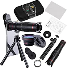 BECEMURU Phone Camera Lens,22X Telephoto Zoom Camera Lens Kit Double Regulation HD Scale Distance FOV Cell Phone Lens Attachment with Tripod for iPhone X/8/7/7 Plus/6s/6/5,Android Smart Phone