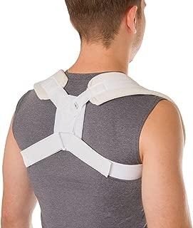 BraceAbility Figure 8 Clavicle Brace & Posture Corrector | Broken Collarbone Sling for Injuries & Fractures, Shoulder Support Strap for Upper Back Straightening (Large)