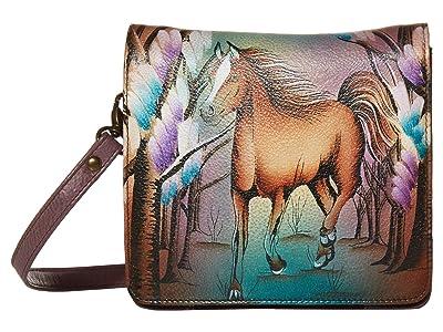 Anuschka Handbags Small Messenger 669 (Free Spirit) Handbags