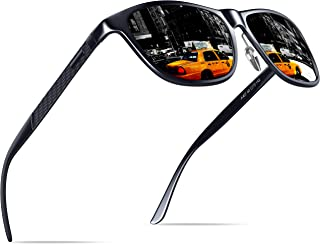 KITHDIA Polarized Sunglasses Unisex Aluminum Wayfarer Frame Goggle Sun Glasses