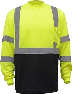 CJ Safety CJHVTS3003L High Visibility Black Bottom Long Sleeve Safety Shirt 2