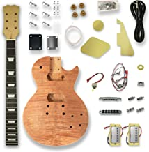 DIY Electric Guitar Kits For LP Guitar, Okoume Body, Maple Neck,Composite Ebony Fretboard