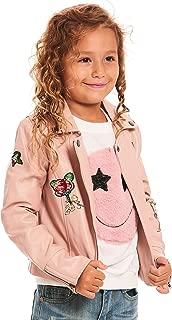 Girls' Little Outerwear Bomber Jackets, Pink/Multi, 5