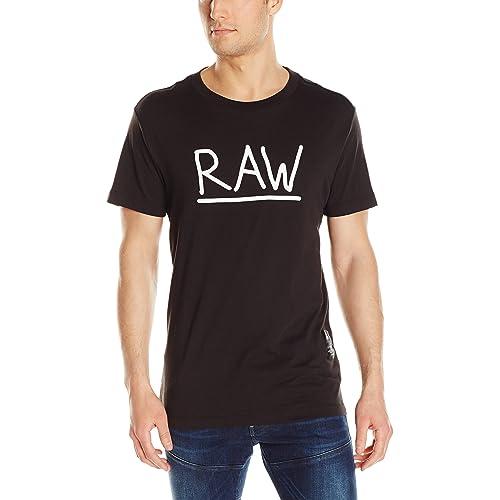 6ebf271a777 G-Star Raw Men's Manes Short Sleeve Logo T-shirt