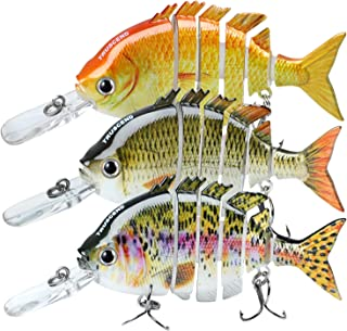 """TRUSCEND Fishing Lures for Bass Trout 2~4"""" Segmented Multi Jointed Swimbaits Slow Sinking Bionic Swimming Lures Freshwater Saltwater Bass Fishing Lures Kit Lifelike"""