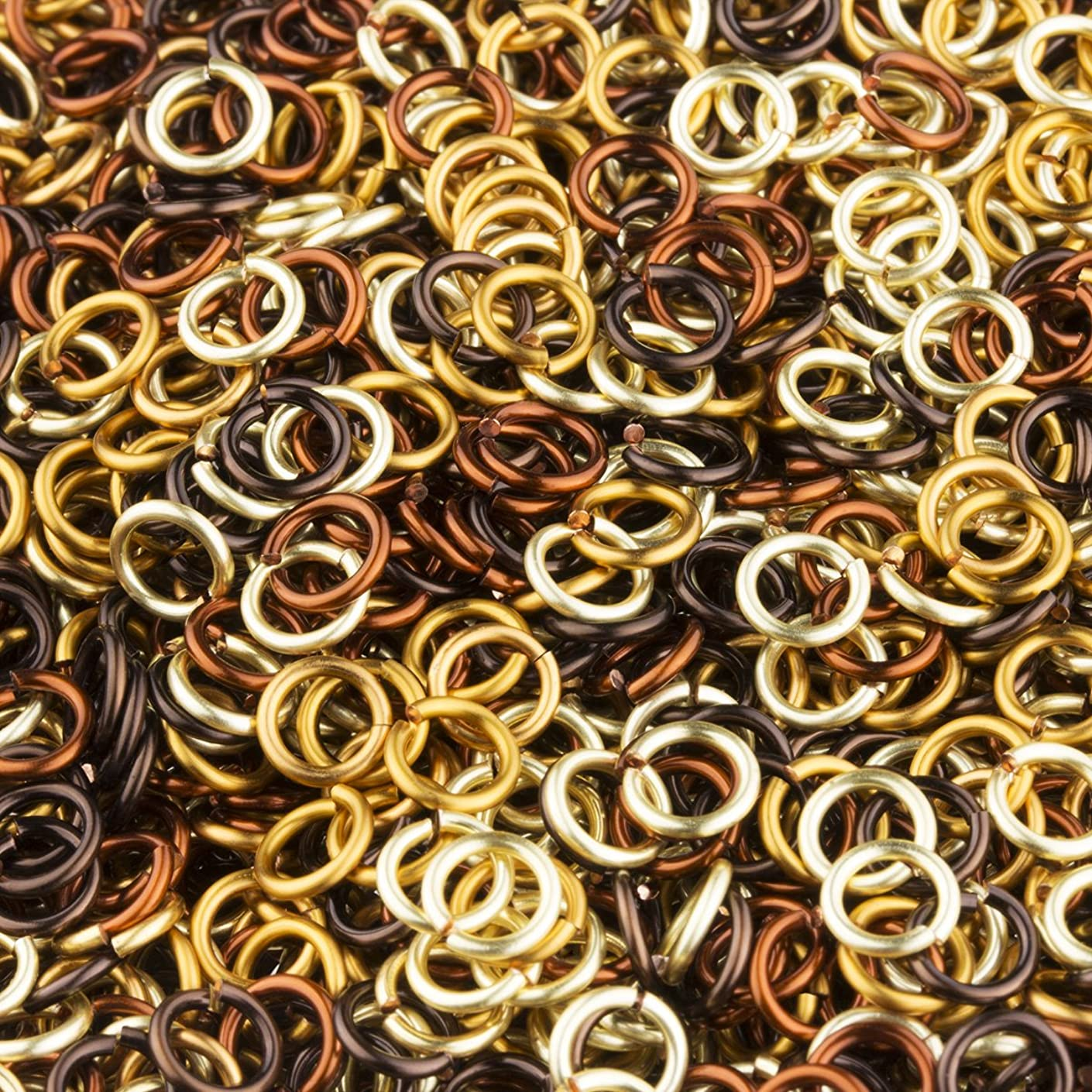 Weave Got Maille 18 Gauge Enameled Copper Jump Ring, 3.5mm, Treasure Mix