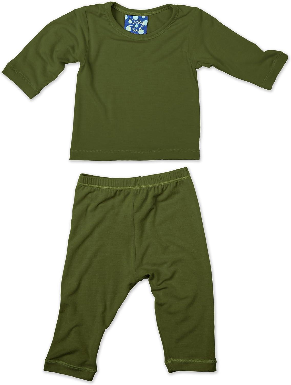 KicKee Pants Long Sleeved Pajama Set, Moss