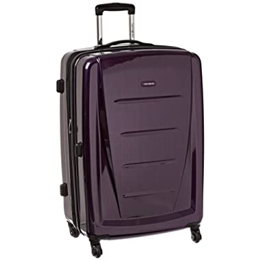Samsonite Winfield 2 Hardside Expandable Luggage with Spinner Wheels, Purple, Checked-Large 28-Inch