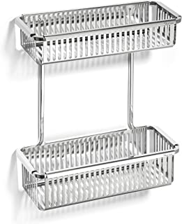 Robert Welch Double Shower Basket, Stainless Steel,