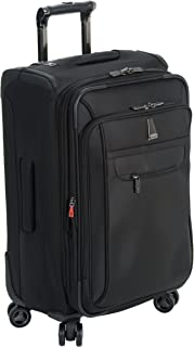 Delsey Luggage Helium X'pert Lite Ultra Light Carry On 4 Wheel Spinner Suiter Upright, Black, 21 Inch