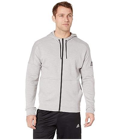 adidas ID Stadium Full Zip Jacket (Medium Grey Heather Solid Grey/Raw White) Men