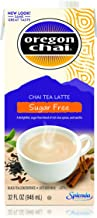 Oregon Chai Sugar Free Chai Tea Latte Concentrate 32-Ounce Boxes (Pack of 6) Liquid Chai Tea Concentrate Sweetened with Sucralose, Spiced Black Tea For Home Use, Café, Food Service