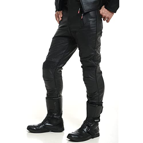c8acb47ab34060 Motorcycle Leather Trousers  Amazon.co.uk