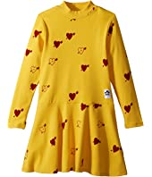 mini rodini - Heart Rib Dance Dress (Infant/Toddler/Little Kids/Big Kids)