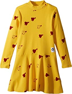mini rodini Heart Rib Dance Dress (Infant/Toddler/Little Kids/Big Kids)