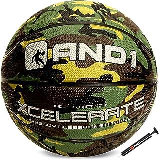 """بسکتبال لاستیکی AND1 Xcelerate (با تورم) یا (شامل تورم با پمپ): مقرره رسمی اندازه 7 (29.5 """") استریتبال ، ساخته شده برای بازی های بسکتبال داخل و خارج"""
